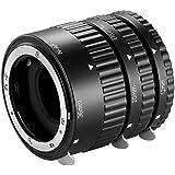 first2savvv Auto Focus Macro Extension Tube Metal Mount Ring Compatible with Nikon D7500 D7200 D7100 D7000 D5600 D5300 D5200 D5100 D5000 D3100 D3000 D800 D600 D300s D90 D80 Digital SLR Cameras