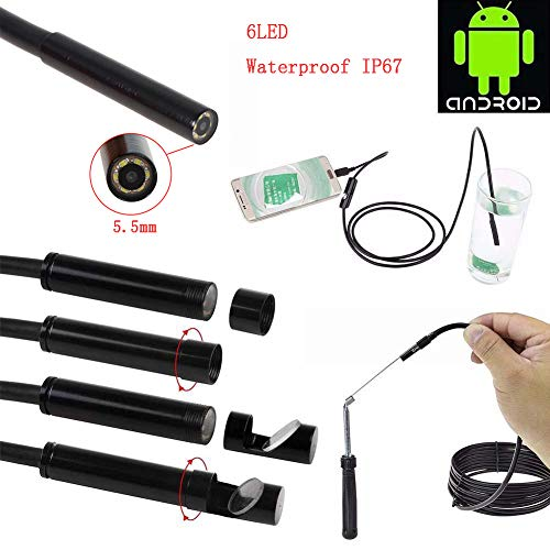 DOLPHINEGG Tragbares Endoskop 720P HD Wireless WiFi Dental Camera Waterproof Endoscope Inspection für Android PC,Hardwire,1m