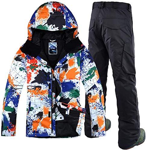 SSXZ Inverno Uomo Sport Tempo Libero Tuta da Sci Impermeabile Professionale Antivento Doppia tavola Abbigliamento Snowboard XL