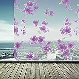 JiaQi Privatsphäre Fensterfolie,Statische dekorfolie,Statische klarsichtfolie Entfernbar Blume Dekorative Dekor Kontrolle-A 60x200cm(24x79inch)