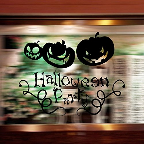 Halloween KüRbis Vinyl Aufkleber 3D Abnehmbarer Wall Decal Gute Laune Hintergrundbild Schlafzimmer Wohnzimmer Esszimmer Willkommen Deko Ideen Aufkleber Wand Wandtattoo Graffiti