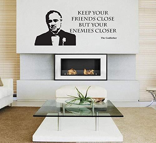 tzxdbh 3D Poster Der Pate Film Film Wandaufkleber Aufkleber Vinyl Wandkunstausgangsdekor Wohnzimmer Abnehmbare Tapete Wandbild 30 * 68 cm
