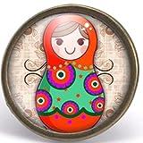 Anillo cabochon matryoshka,'la muñeca rusa', Regalo de Navidad para regalo mujer - San Valentín- regalo de cumpleaños bronce (ref.75)