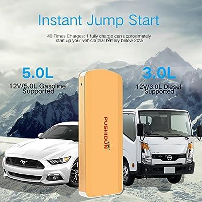 Car Jump Starter 18000mAh 1000A Peak(hasta motor de gasolina 6.0L y motor diesel 3.0L) para 12V Coche