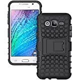 [Sponsored]Rugged Hard Armor Cell Phone Stand Case For Samsung J5 (Black)
