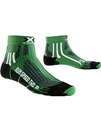 X-Bionic Run Speed Two Calcetín, Unisex Adulto, Verde/Negro, ...