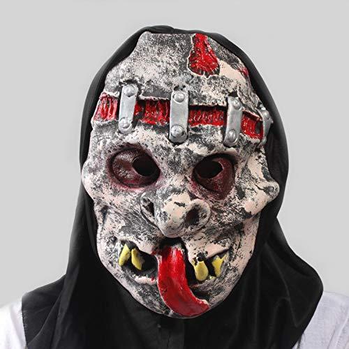 SUNWUKONG Einzigartige Scary Halloween Teufel Horror Maske Neuheit Latex Gummi Gruselige Kopf Masken Gesicht Schrecklichen Albtraum für Karneval Kostüm Party, (Halloween-kostüme Scary Einzigartige)
