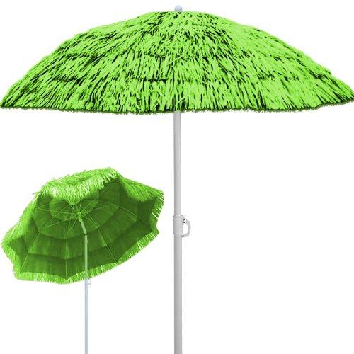 Deuba® Sonnenschirm Hawaii ✔Ø 160 cm ✔Neigefunktion ✔Höhenverstellbar ✔stabile Verstrebungen ✔Grün - Gartenschirm Terrassenschirm Balkonschirm Rund Marktschirm Strandschirm