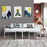 Aingoo Tagesbett mit Bettrahmen 2 Sitzer Couch mit Tisch Balkonbank Gartenbank integrierter Tisch in Weiß 90 x 190 CM