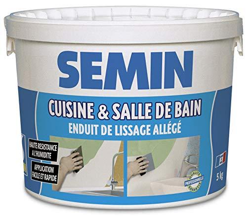 Semin A04736 Enduit de Lissage Cuisine et Salle de Bain, Adapté aux Pièces...