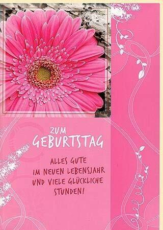 A4 Maxi Geburtstagskarte Glückliche Stunden Maxi Daisy