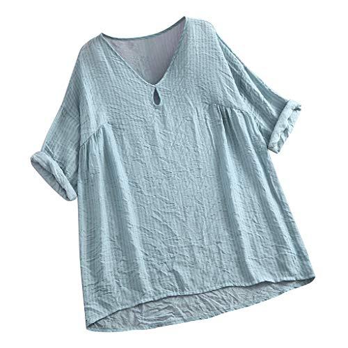 MCYs ❤ Lose Streifen halbe Hülsen Beiläufige V Ansatz Bluse der Frauen übersteigt - Die Weißen Streifen Gestreiften Rock
