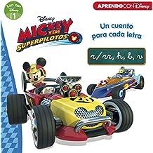 Mickey y los Superpilotos. Un cuento para cada letra: r/rr, h, b, v (Leo con Disney Nivel 1)