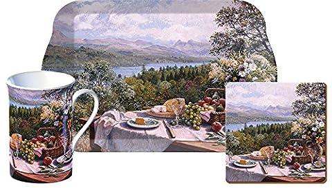 Creative Tops plein air Temps pour le thé Coffret cadeau mug, sous-verre et plateau