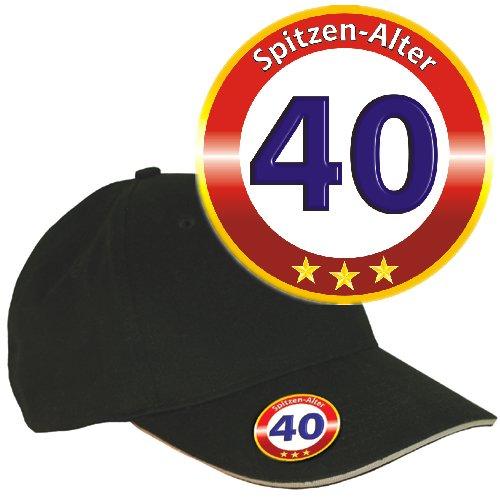 (AV Andrea Verlag Base Caps mit (Zum 40. Geburtstag Spitzen Alter 32882) Metall Flaschenöffner und 3D Etikett Doming)