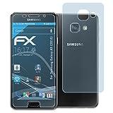 atFolix Displayschutzfolie für Samsung Galaxy A3 (2016) Schutzfolie - 3er Set FX-Clear kristallklare Folie