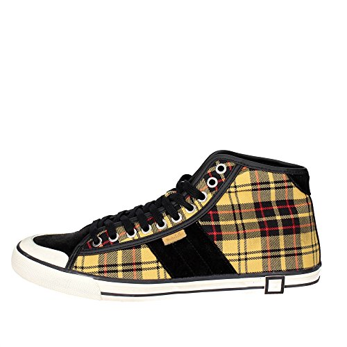 D.A.T.E. Tender High-A Sneakers Alta Uomo Nero/Giallo