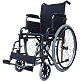 Elite Care folding lightweight self propelled wheelchair ECSP02 with flip up armrests, fold down backrest and lap belt