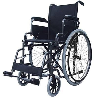 Elite Care folding lightweight self propelled wheelchair ECSP02 with flip up armrests, fold down backrest and lap belt