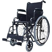 Elite Care Falten Stahl Rollstuhl mit abnehmbaren Fußstützen ECSP02