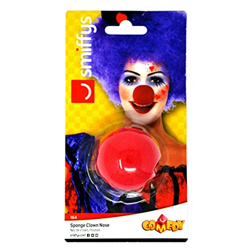 Smiffys Unisex Clown Nase, One Size, Rot, 164
