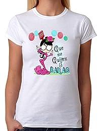 MardeTé Camiseta Que me quiten lo Bailao. Camiseta para flamencas, Feria, Fiestas,