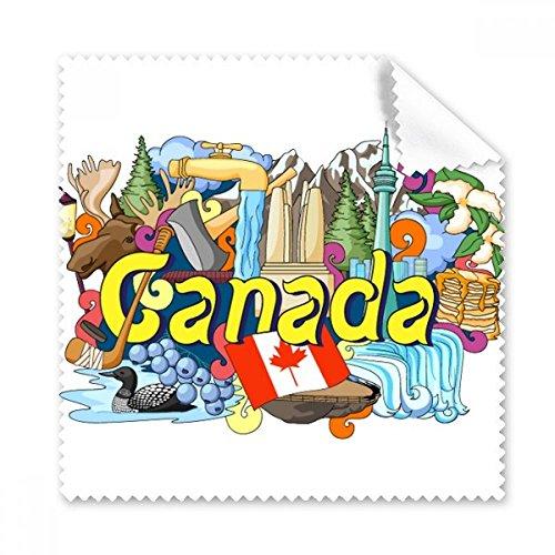 Rocky Mountains CN Tower Ahorn Kanada Graffiti Gläser Tuch Reinigungstuch Geschenk Handy-Display von 5x