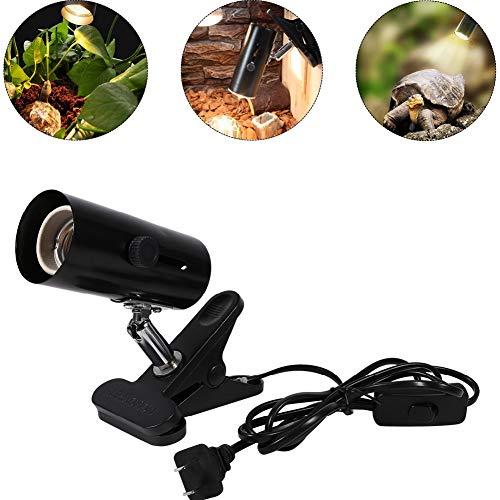 Smandy Lámparas de Calor para terrarios, Cabeza Universal de Metal, luz UV de Calor,...