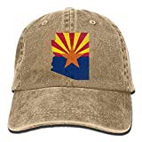 Photo de Flag Map of Arizona Unisex Baseball Caps Denim Hats Cowboy Outdoor par Hhaj