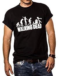 Walking Dead T-Shirt Homme ZOMBIE Evolution Noir S-XXXL
