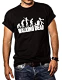 Walking Dead - Camiseta Negra Hombre Zombie Evolution L
