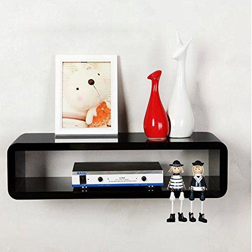 chinkyboo 50x15x27cm & Black/White/Red Floating Wall Mount Shelf Cube ...