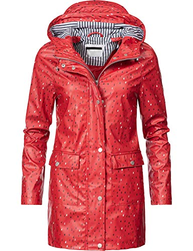 Peak Time Damen Allwetter Jacke Regenmantel L60017 Red019 Gr. XL - Frauen Mantel Peak