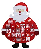 Hanging Felt Santa Father Christmas Advent Calendar
