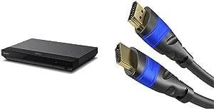 Sony Ubp X700 4k Ultra Hd Blu Ray Disc Player 4k Hdr 4k Streaming Dienste Super Audio Cds Sacd Usb Wifi Hdmi Schwarz Kabeldirekt 4k Hdmi Kabel 2m Kompatibel Mit