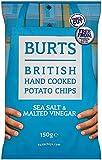Burts Potato Chips Salt and Vinegar 150 g (Pack of 10)