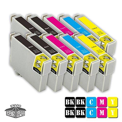 Multipack 10 X TintenPatronen Farben Kompatibel GC41 BK GEL - GC41 Y GEL Für Drucker RICOH Aficio SG 3110DN