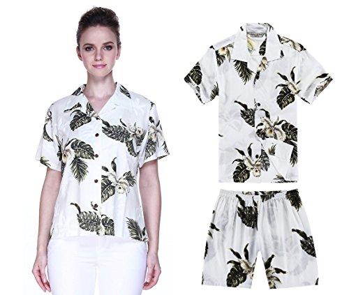 2d569429d Camisas a juego con la madre del hijo de Hawaiian Luau Outfit en Palm Verde  en blanco Mujer XL Chico 10