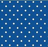 i.stHOME Klebefolie Möbelfolie Dots Punkte blau Selbstklebende Folie 45x200 cm - Dekorfolie Muster Vintage und retro Look - Bastelfolie