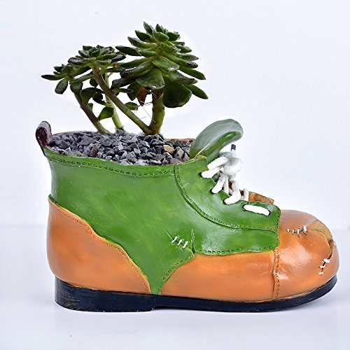 Maceta de cerámica forma de bota