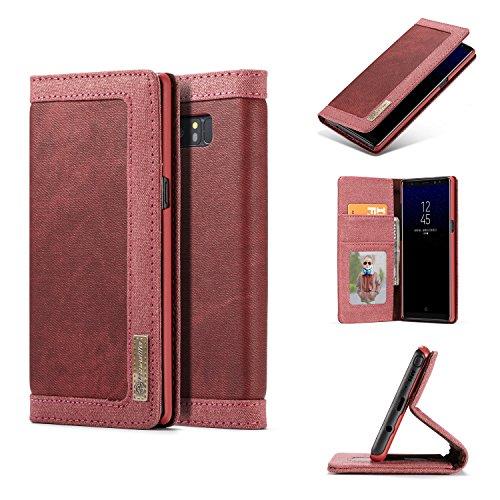 CaseMe iPhone 8 Plus Doppel Farbe Safe Kartensteckplatz mit Brieftasche Matte PU-Leder-Jeans-Kasten-Abdeckung Blau Rose