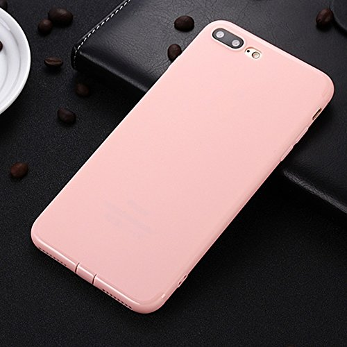 JIALUN-étui pour téléphone Pour Apple IPhone 7 Plus Housse en douceur, housse de couverture en couleur solide Shock Back Case ( Color : Red ) Pink
