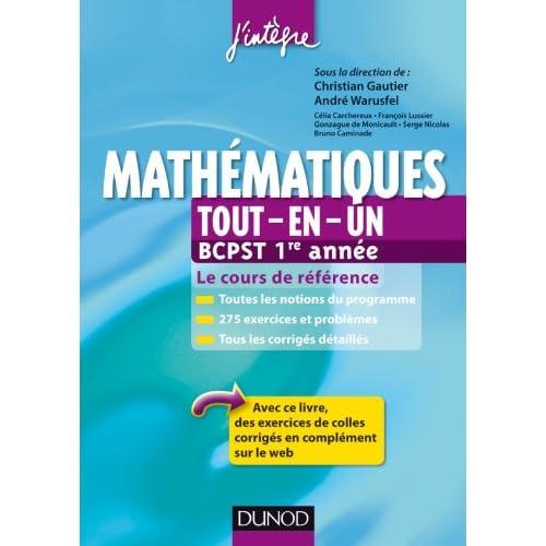 Mathématiques tout-en-un BCPST 1re année - Le cours de référence