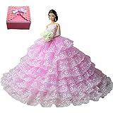 Belle robe de mariée Mode magnifique robe de soirée à la main pour la poupée Barbie robes / vêtements /robe de poupée by TIME4DEALS