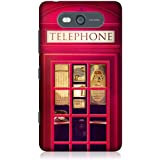 Head Case Designs Designs Red London Telephone Box Kiosk Booth Case for Nokia Lumia 820