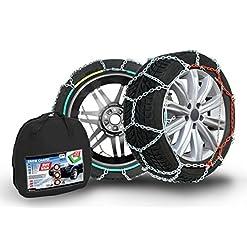 Compass Catene da neve SUV-Van per pneu 205/75 R15, Extra forte 16x27mm, Omologate TÜV (225), 1 paio