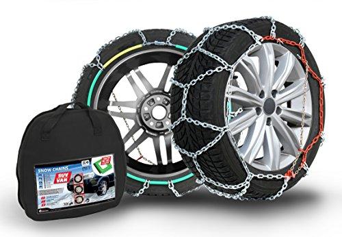 Compass Schneeketten SUV-Van für Reifen 275/60 R18, Extra stark 16x27mm, TÜV geprüft, (267), 1 Paar - 275 60 16 Reifen