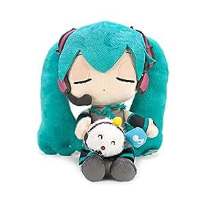 "Vocaloid Miku Hatsune X Shuumai-kun Taito 10"" Plush Toy Closed Eye Ver"