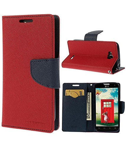 Flip Cover For Motorola Moto G3 - Red