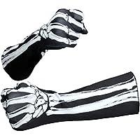 BESTOYARD Halloween Skeleton Gloves Skull Ghost Gloves Death Gloves Scary Party Props Accesorios de Disfraces de Halloween Cosplay (Medio)